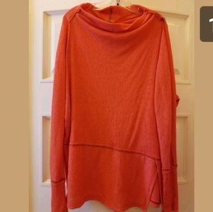 We The Free Bella Tunic L/S Orange Oversized S-L
